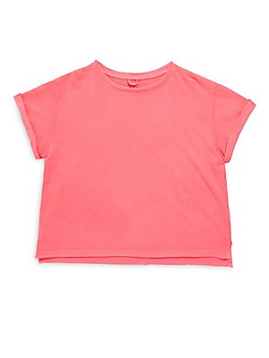 Little Girl's & Girl's Solid Cotton Plum Tee