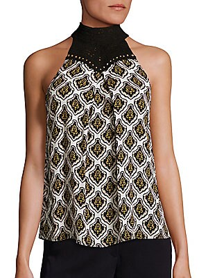 Ava Printed Silk Top