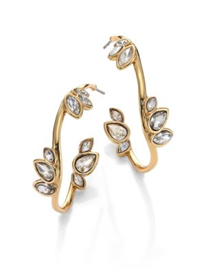 Miss Havisham Liquid Crystal Jagged Broken Glass Hoop Earrings/1.4 Alexis Bittar