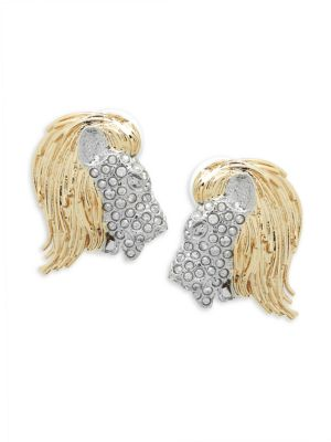 Maldivian Crystal Lion Earrings Alexis Bittar