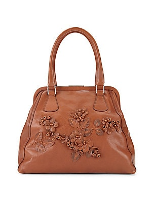 Floral Leather Handbag