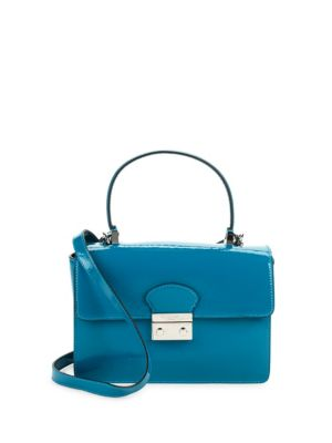 Flap Leather Top Handle Bag REDValentino