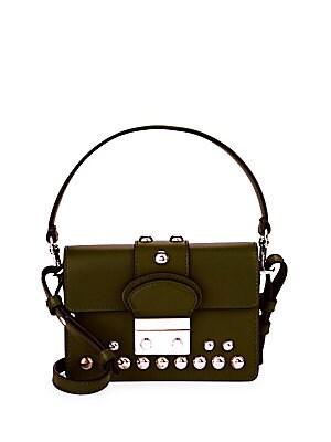 Eyelet Leather Shoulder Bag