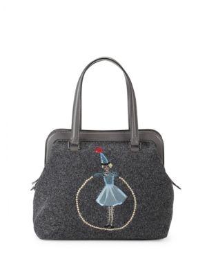 Embroidered Handbag REDValentino
