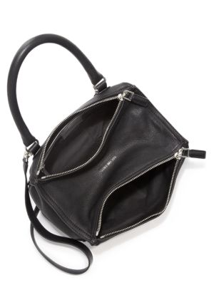 GIVENCHY Pandora Small Leather Shoulder Bag in Black