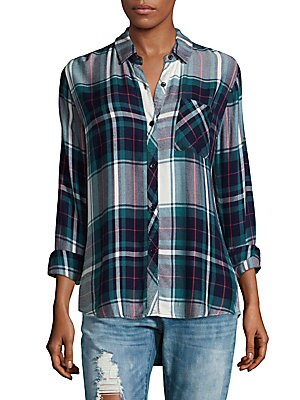 Hunter Plaid Long-Sleeve Shirt
