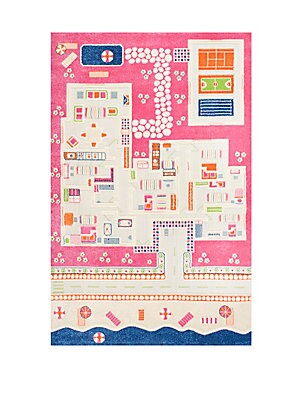 Kinderloom Summertime Abstract Print Area Rug