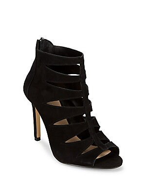 Florynce Leather Cutout Ankle Booties