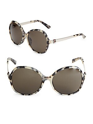 50MM Round Leopard Sunglasses