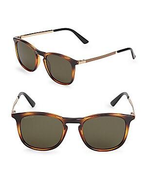 51MM Rounded Tortoiseshell Sunglasses