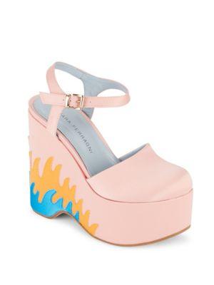 Round-Toe Platform Sandals Chiara Ferragni