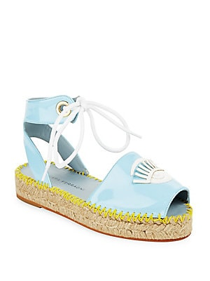 Patent Leather Espadrilles