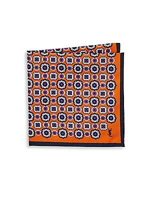 Block Repeat Silk Pocket Square
