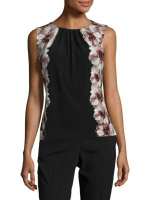 Floral-Accented Shell Calvin Klein