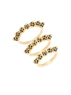 Pave Cone Band Stackable Ring Set Eddie Borgo