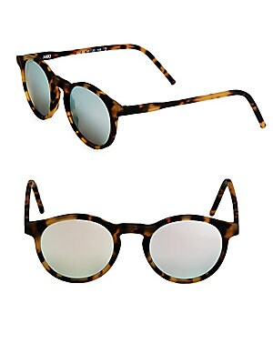 48MM Round Tortoiseshell Sunglasses