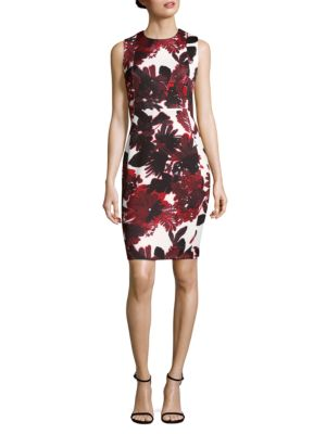 Floral Bodycon Dress Calvin Klein
