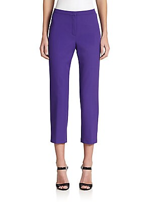 Tessik Stretch Cotton Cropped Pants