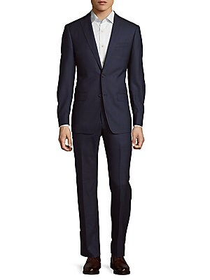 Windowpane-Check Wool Suit