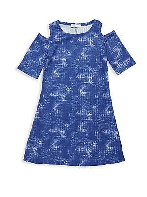 Girl's Cold-Shoulder Dress