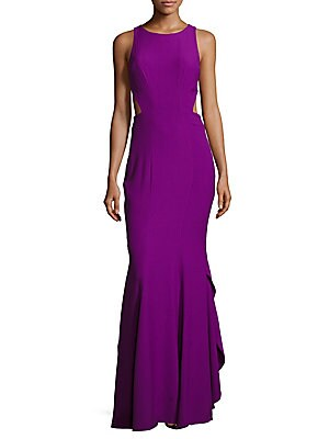 zac posen female sleeveless roundneck cutout dress