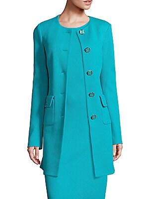 Long Wool-Blend Jacket