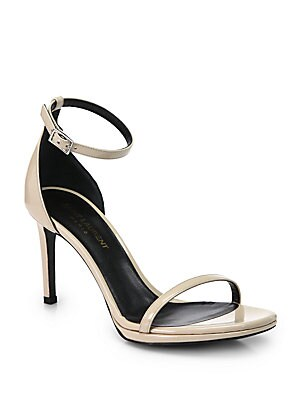 Jane Patent Leather Ankle-Strap Sandals