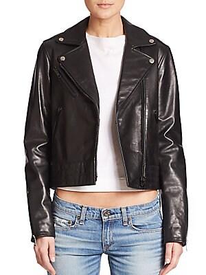 Chrystie Leather Moto Jacket