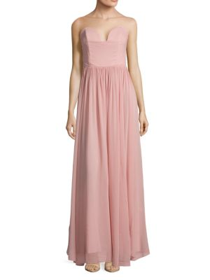 Pointed Strapless Gown Nicole Miller