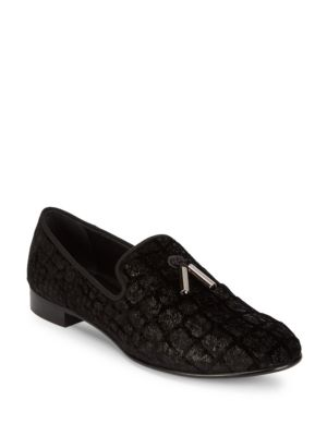 GIUSEPPE ZANOTTI Silk Printed Loafers