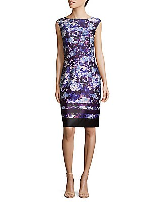 Ikat Floral Bodycon Dress