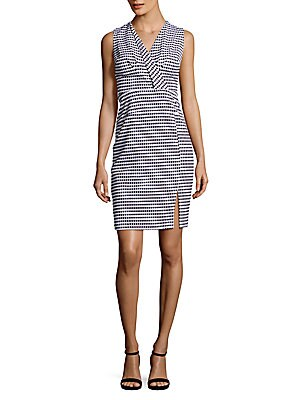 Gingham Sleeveless Fitted Dress