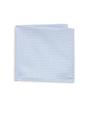 Cotton Windowpane Handkerchief