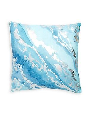 Blue Tary Throw Pillow