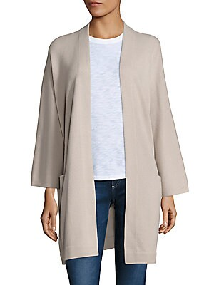 Cashmere Open-Front Blanket Coat