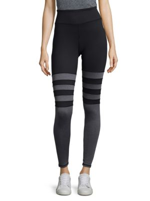 Stripe Long Leggings KYODAN