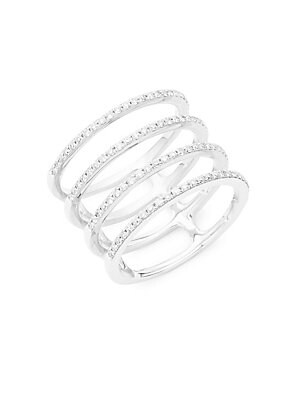 Click here for Spiral Diamond & 14K White Gold Ring prices