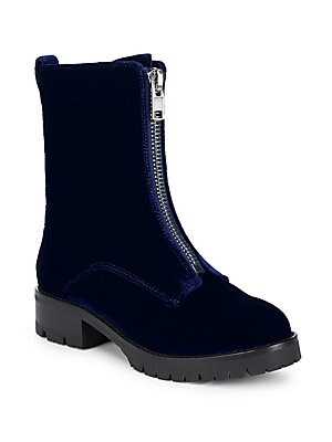 Dustin Velvet Zip Boots