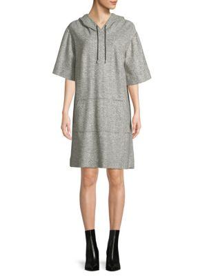 Herringbone Hooded Dress