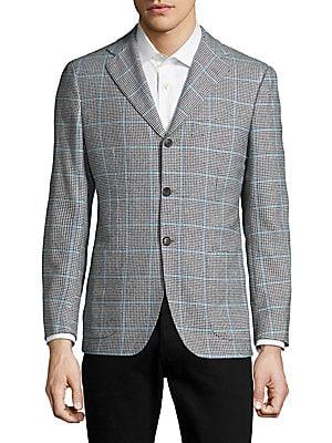 Regular Fit Windowpane Sportcoat