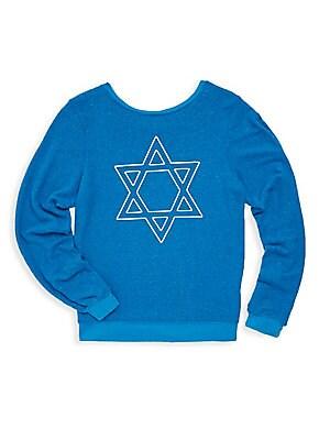 Girl's Hexagram Graphic Sweater