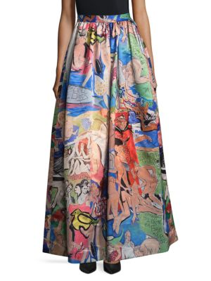 Printed Long Skirt Alice   Olivia