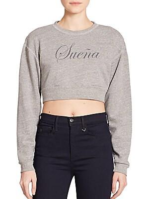 Joan Smalls x True Religion Cropped 'Sueña' Printed Sweatshirt