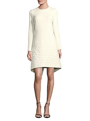Textured Long-Sleeve Dress