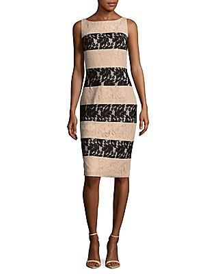Two-Tone Stripe Dress