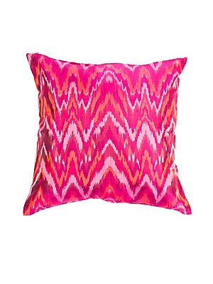 Ikat Handmade Silk Pillow
