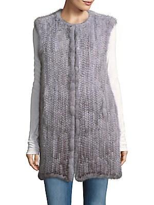 Mink Fur Hook-Front Vest