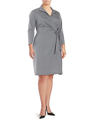 Edeline Faux Wrap Dress