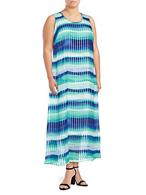 Plus Size Colorblock Maxi Dress