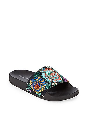 Soriel Embroidered Slide Sandals